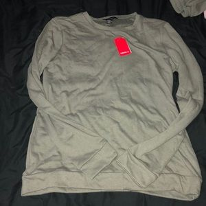 New forever 21 crew neck sweater in olive green